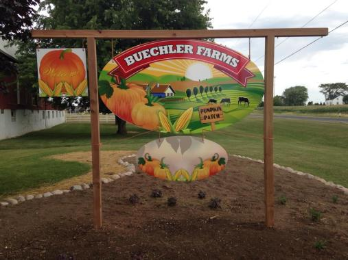 buechler farms pumpkin sign