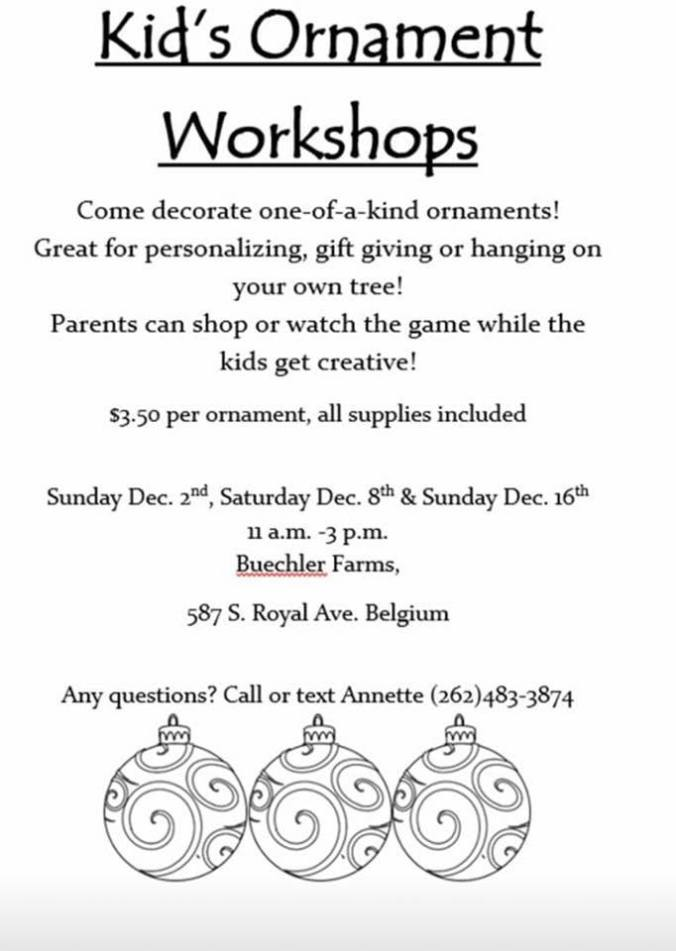 cmas ornament workshop