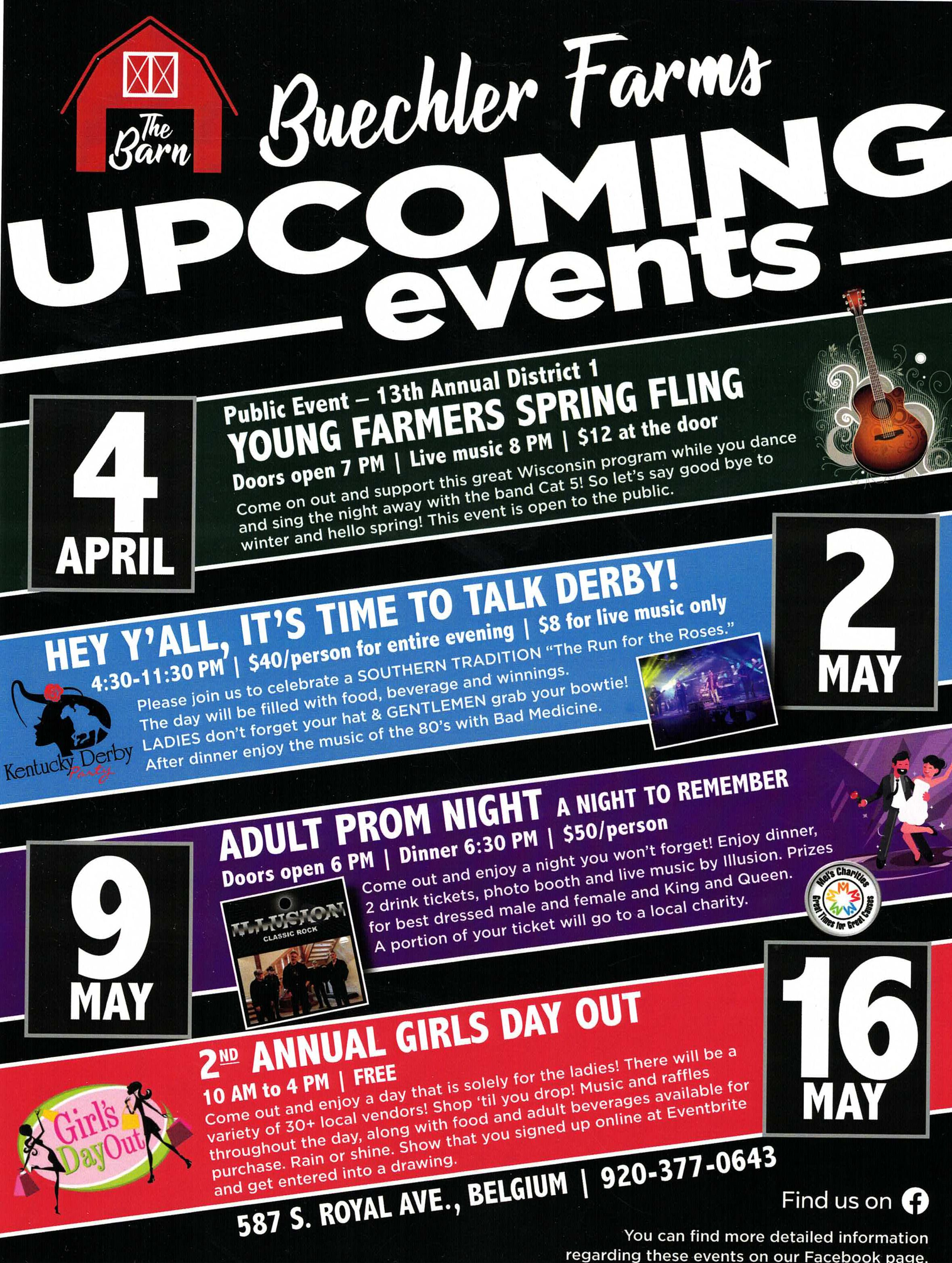 2020 events flyer